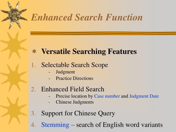 Enhanced Search Function