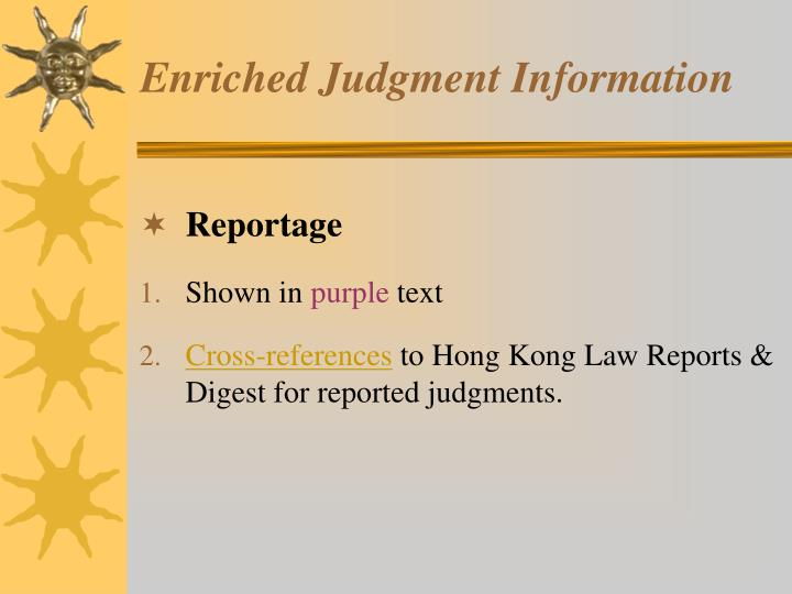 Enriched judgment information1