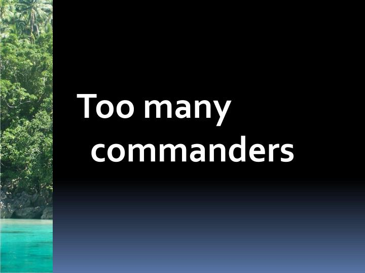 Too many commanders