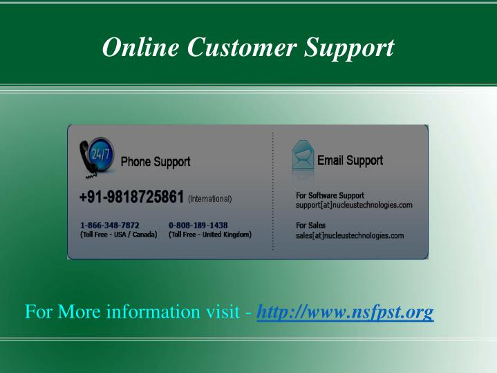 Online Customer Support
