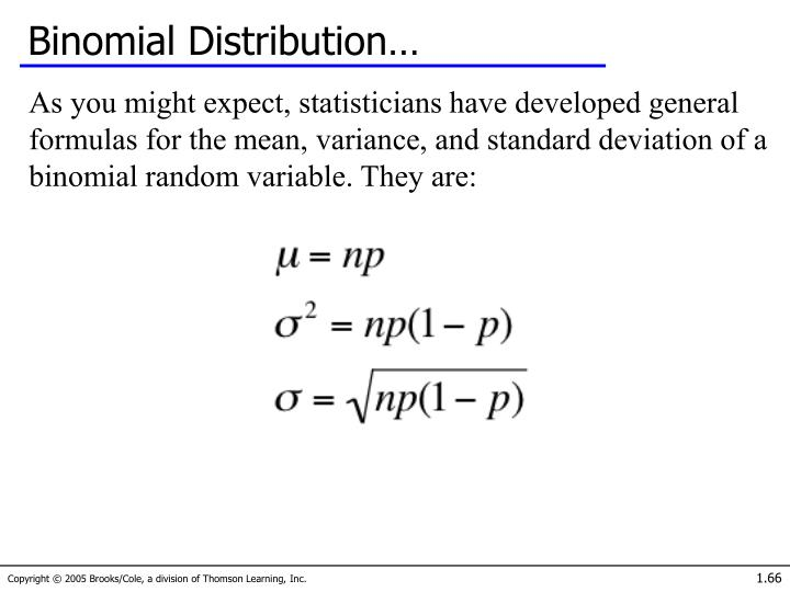 Binomial Distribution…
