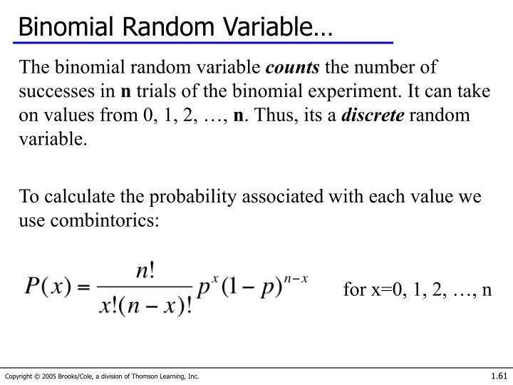 Binomial Random Variable…