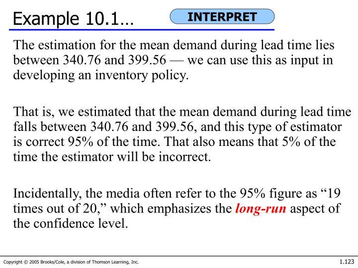 Example 10.1…