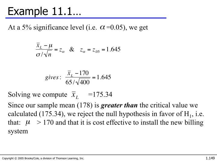 Example 11.1…