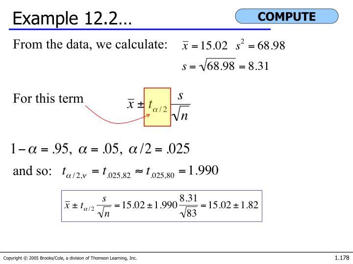 Example 12.2…