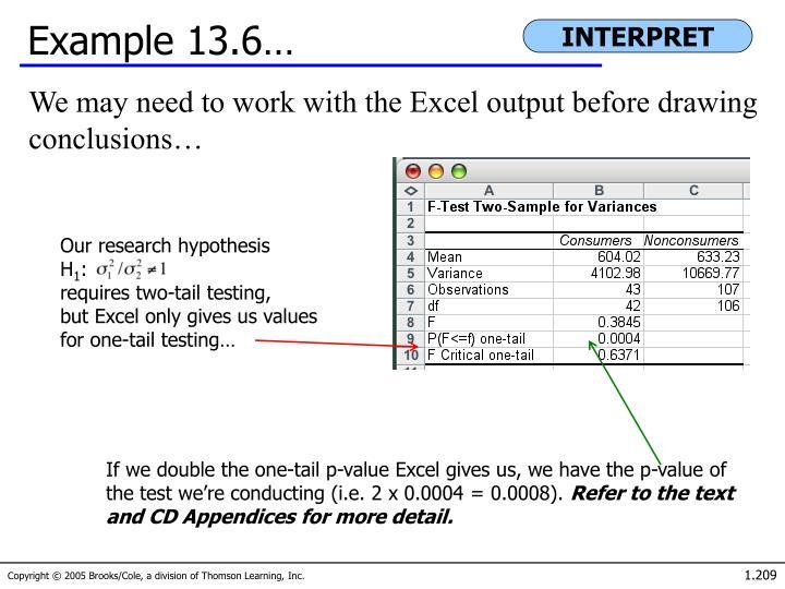 Example 13.6…