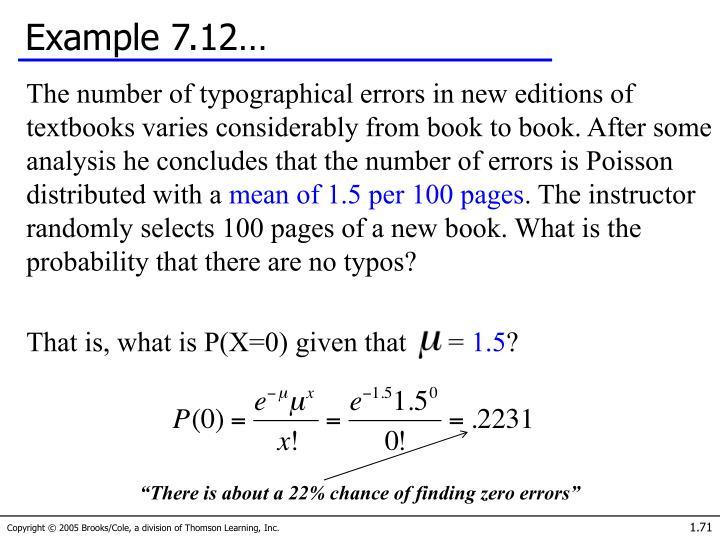 Example 7.12…