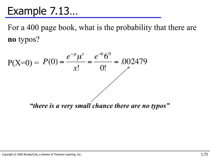 Example 7.13…