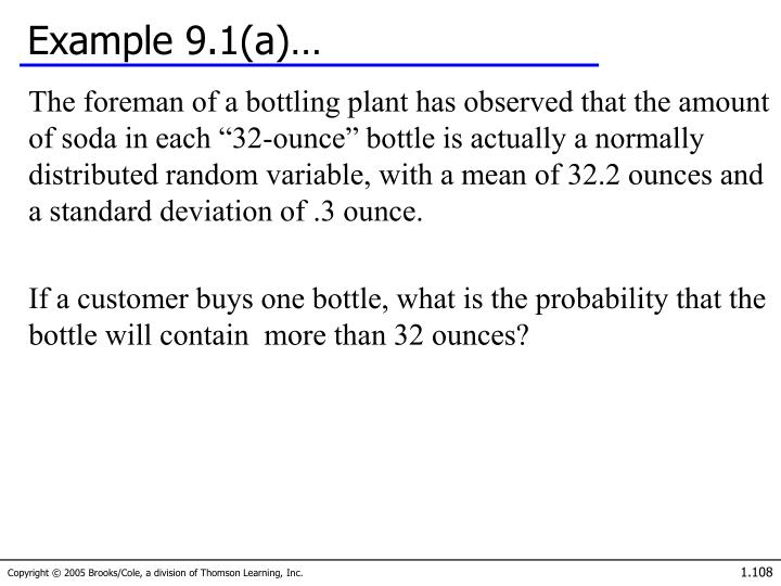 Example 9.1(a)…