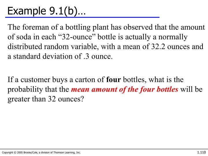 Example 9.1(b)…