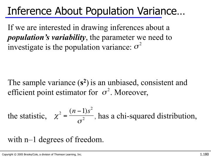 Inference About Population Variance…