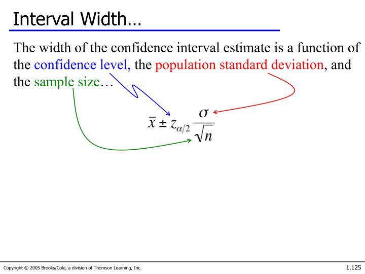 Interval Width…