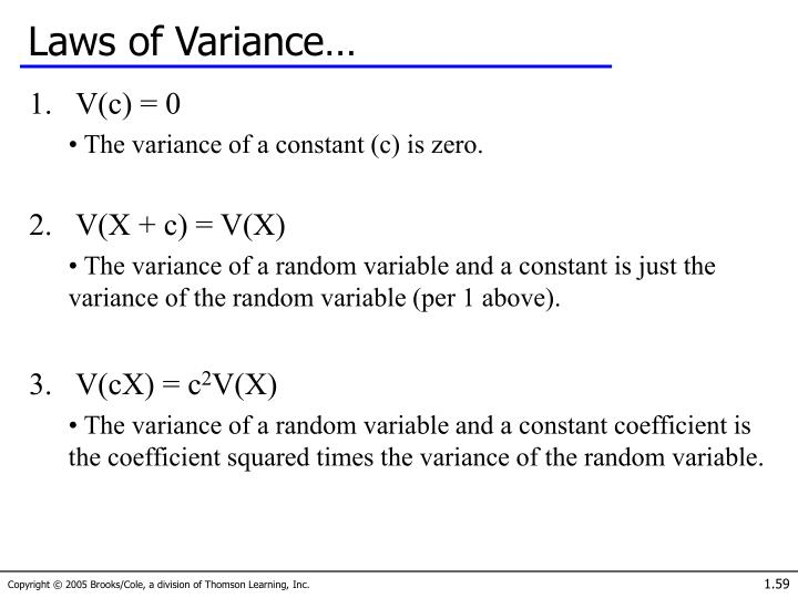 Laws of Variance…