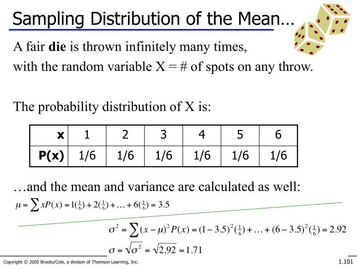 Sampling Distribution of the Mean…