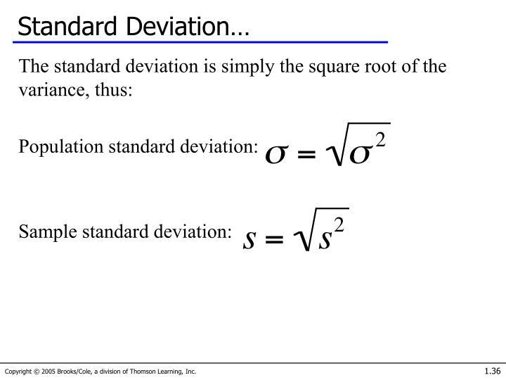 Standard Deviation…