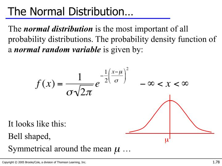 The Normal Distribution…