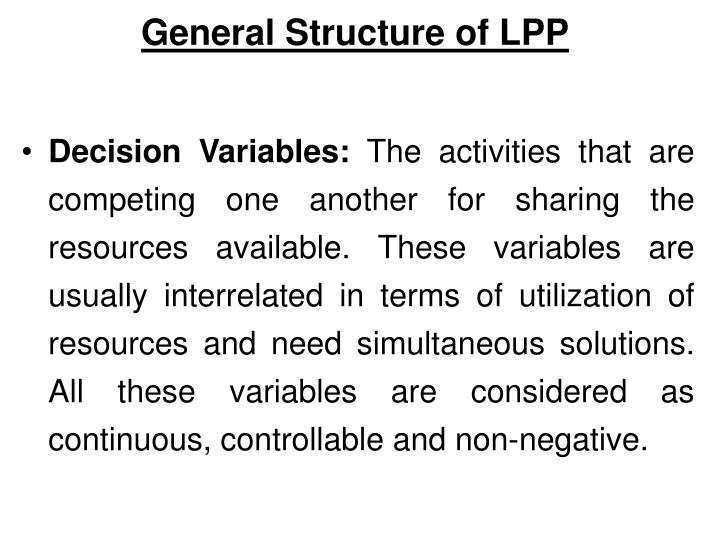 General Structure of LPP