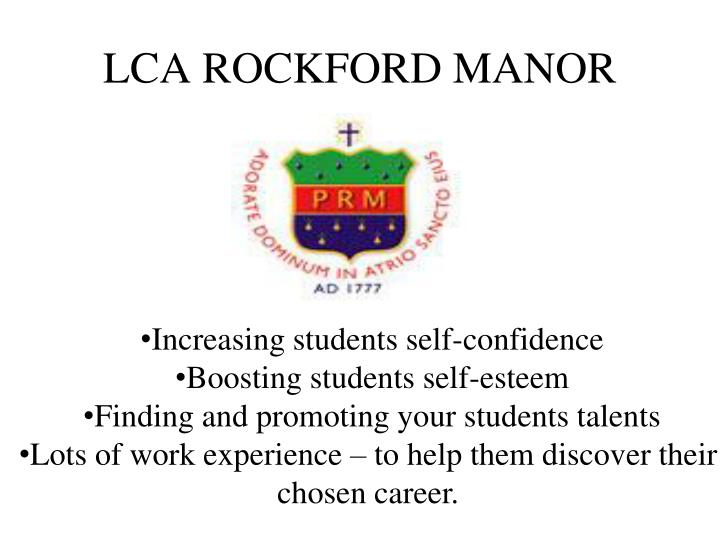 LCA ROCKFORD MANOR