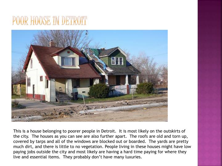 Poor House in Detroit