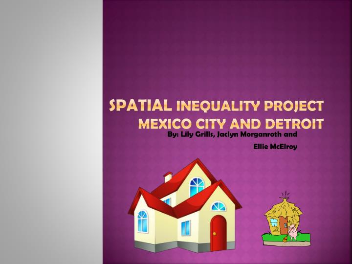 Spatial inequality project mexico city and detroit