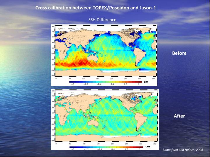 Cross calibration between TOPEX/Poseidon and Jason-1