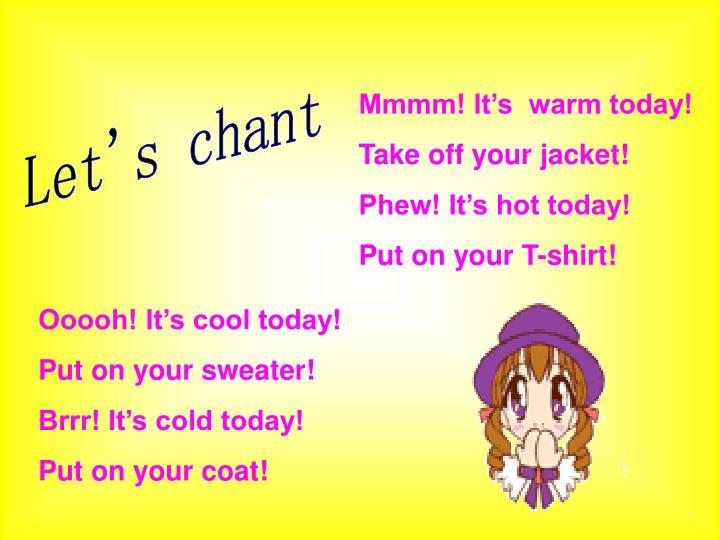 Let's chant