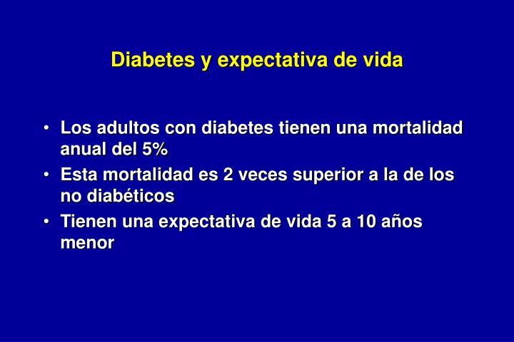 Diabetes y expectativa de vida