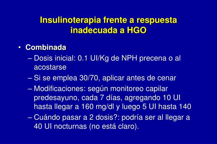 Insulinoterapia frente a respuesta inadecuada a HGO