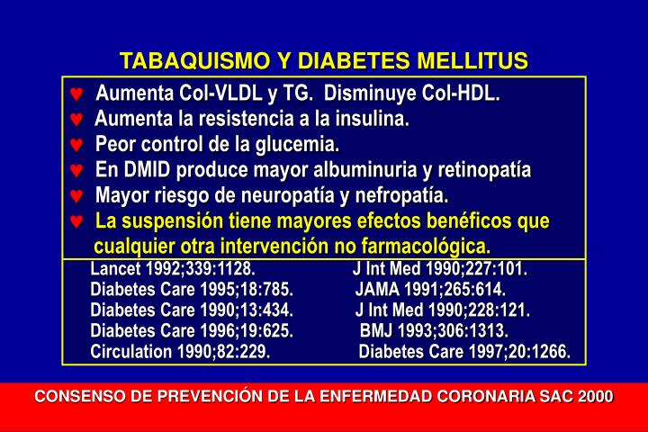 TABAQUISMO Y DIABETES MELLITUS