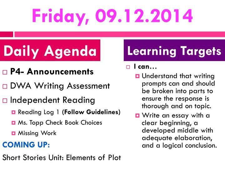 Friday, 09.12.2014