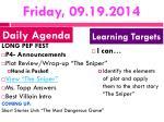 friday 09 19 2014