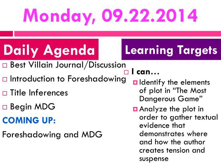 Monday, 09.22.2014