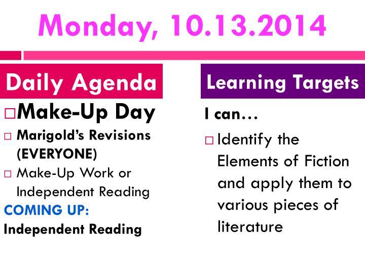 Monday, 10.13.2014
