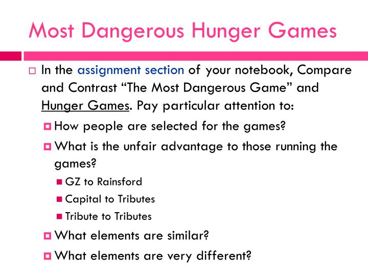 Most Dangerous Hunger Games