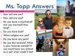 ms topp answers