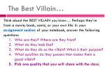 the best villain