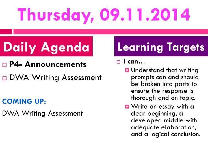Thursday, 09.11.2014