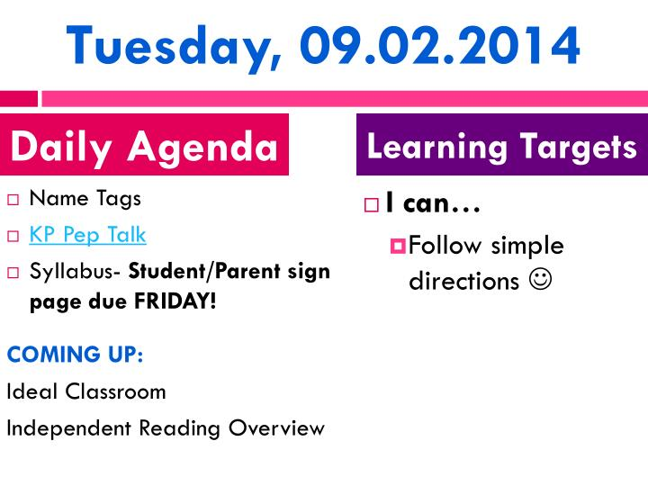 Tuesday, 09.02.2014