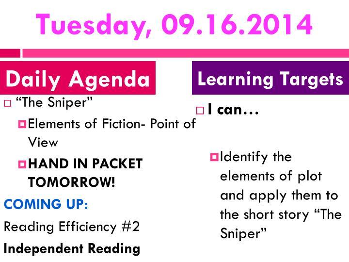 Tuesday, 09.16.2014