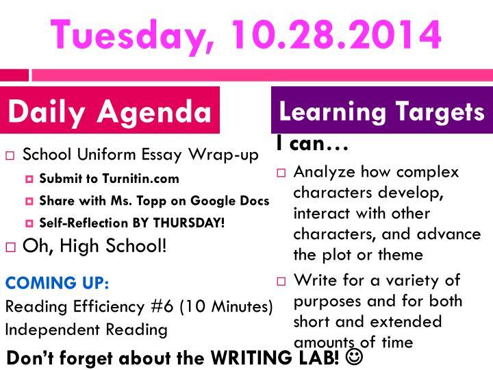 Tuesday, 10.28.2014