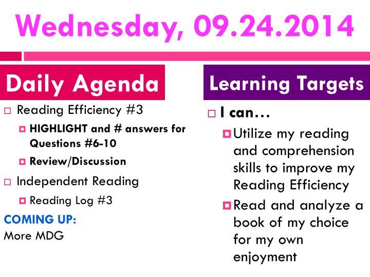 Wednesday, 09.24.2014