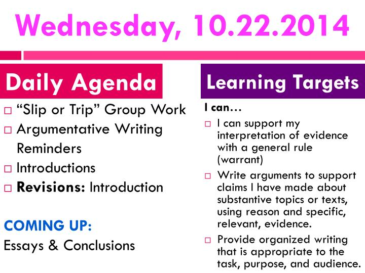 Wednesday, 10.22.2014