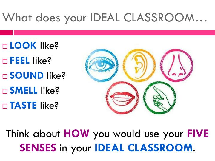 What does your IDEAL CLASSROOM…