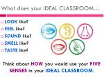 what does your ideal classroom