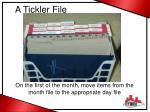 a tickler file