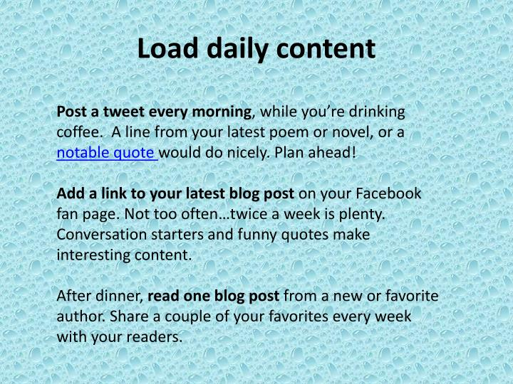 Load daily content
