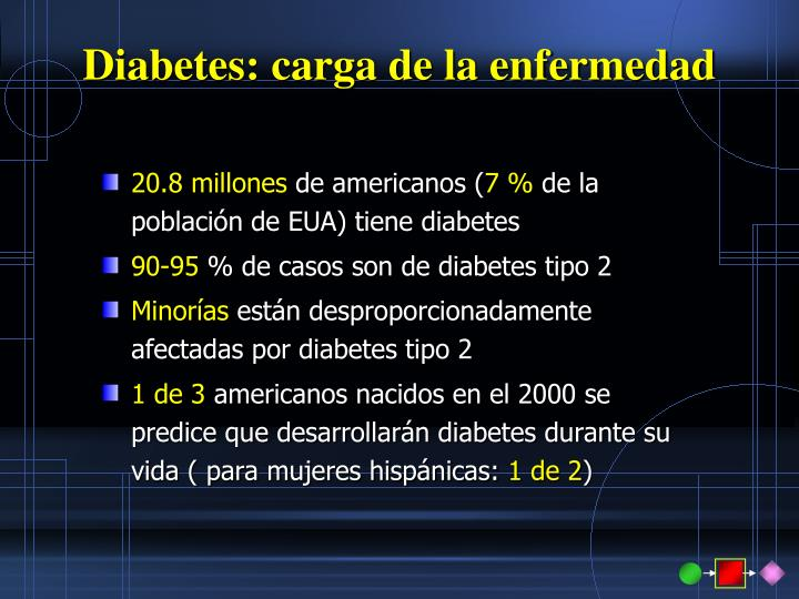 Diabetes: carga de la enfermedad