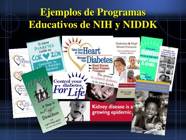 Ejemplos de Programas Educativos de NIH y NIDDK