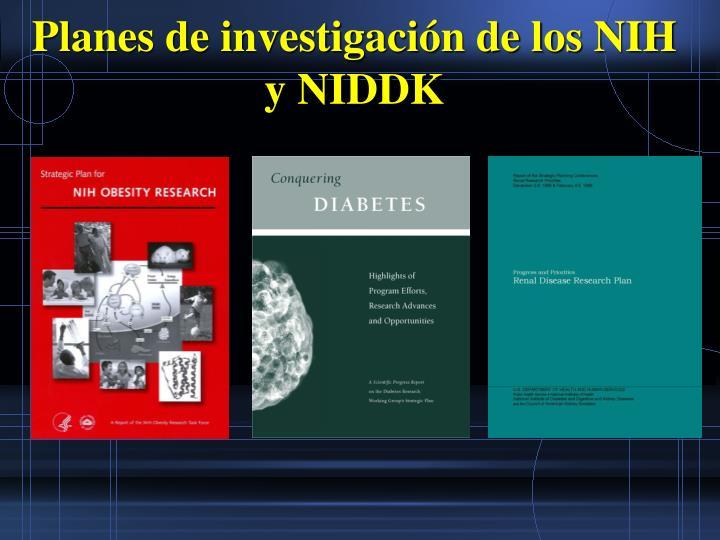 Planes de investigacin de los NIH y NIDDK