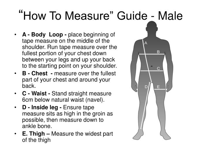 How to measure guide male